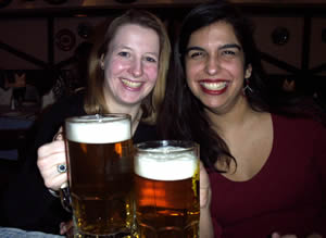 D and me with the liters of beer