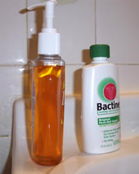 Bactine and antibacterial soap - my new best friends